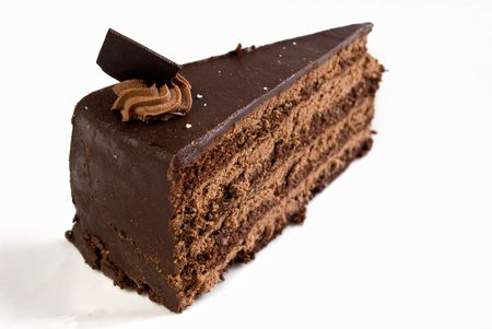 ganache: layered chocolate cake with ganache and butter cream filling
