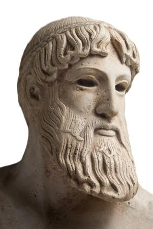 Ancient Greek god Poseidon - god of the sea, horses, and earthquakes. photo