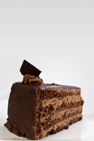 layered chocolate cake with ganache and butter cream filling Stock Photo - 7574252