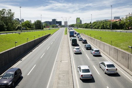 rush hour concept with all the cars going in one direction Stock Photo - 7689575