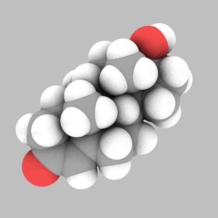 espacio de estructura molecular de testosterona-relleno  Foto de archivo - 7899985