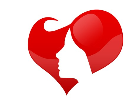 female face in a heart Stock Photo - 7971542