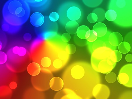 Colorful bokeh abstract light background photo