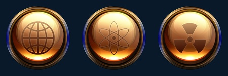 Stylized (glossy orb) science icon design pack photo