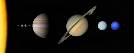 Solar system scale photo