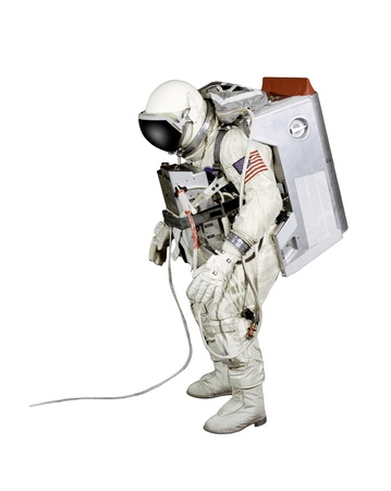Astronaut on a white background photo