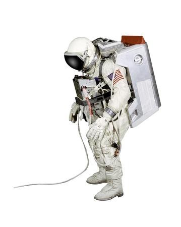 rocket man: Astronaut on a white background