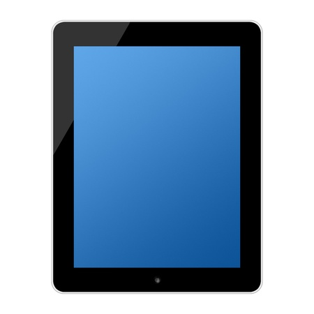 computer touchscreen tablet pc isolated on white photo
