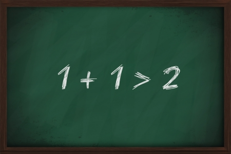 addition symbol: The whole is greater than the sum of its parts