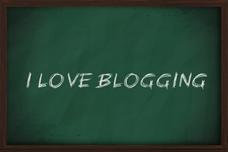 I love blogging handwritten on a chalkboard photo