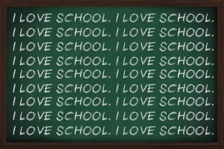 I love school written a lot on a chalkboard photo