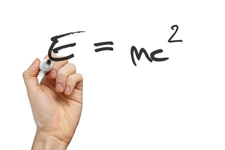 Berühmte Physik Gleichung auf Whiteboards Wissenschaft Konzept Standard-Bild - 22173152