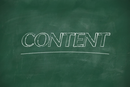 Content written with chalk on blackboard Stock Photo - 22178951
