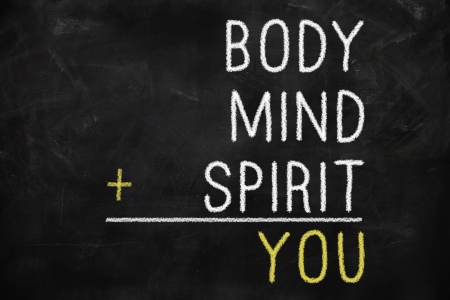 You, body, mind, soul, spirit - a mind map for personal growth Stock Photo