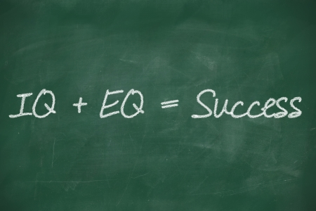 emotional stress: formula for success iq eq success concept Stock Photo