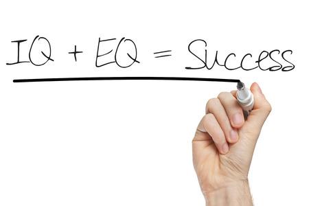 성공의 IQ EQ 성공 개념에 대한 공식 스톡 콘텐츠