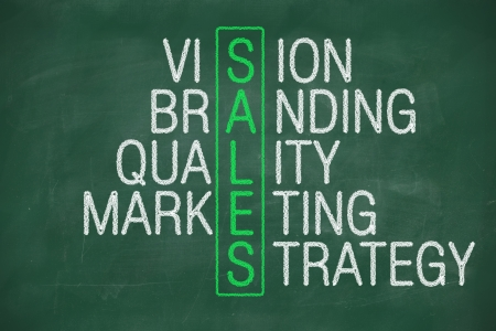 Concept of sales from vision branding quality marketing strategy Stock Photo - 22255202