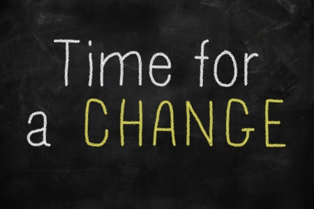 Time for a change concept written on blackboard Stock Photo - 22255221