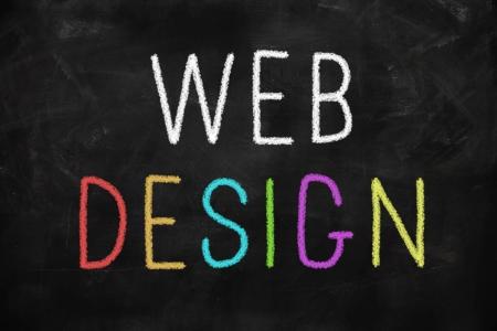 Web design colorful concept written on a blackboard Stock Photo - 22255228