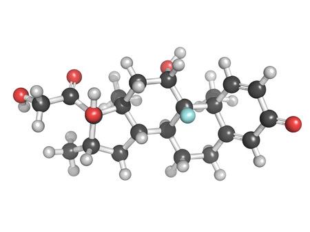 Chemical structure of an anti-inflammatory and immunosuppressive steroid drug, Betamethasone Stock Photo - 22944295