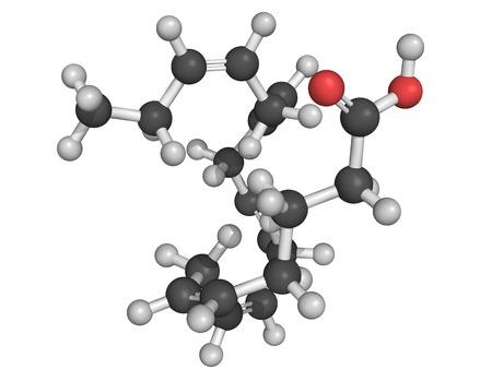 model fish: Eicosapentaenoic acid  EPA  omega-3 fatty acid, molecular model  EPA is abundant in many fish oils