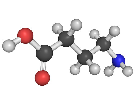 inhibitory: Chemical structure of gamma-aminobutyric acid(GABA), chief inhibitory neurotransmitter