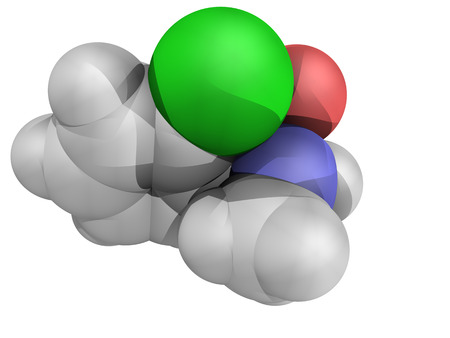 analgesia: Chemical structure of ketamine, an anaesthetic drug with rapid antidepressant properties Stock Photo