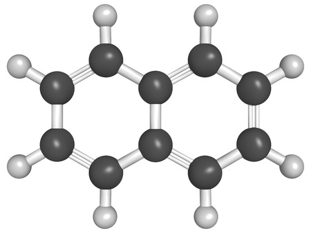 naphtha: Chemical structure of naphthalene, a mothball ingredient