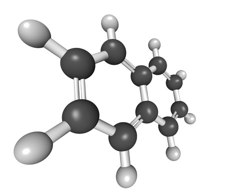 creosote: Chemical structure of naphthalene, a mothball ingredient