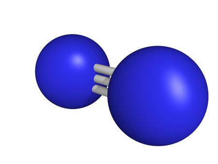 elemental: Elemental nitrogen  N2 , molecular model  Nitrogen gas is the main component of the Earth