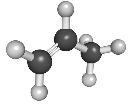 pp: Chemical structure of propylene (propene), polypropylene (PP, polypropene) plastic building block