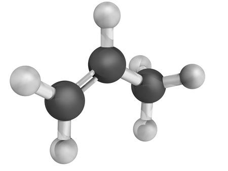 propylene: Chemical structure of propylene (propene), polypropylene (PP, polypropene) plastic building block