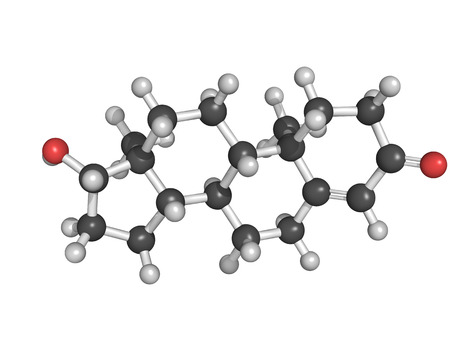 Chemical structure of testosterone, male sex hormone photo