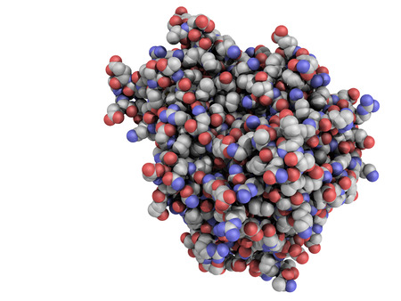 cytokine: Tumor necrosis factor (TNF, cachexin, cachectin) protein, a cytokine that plays an important role in inflammation and immunity. Stock Photo