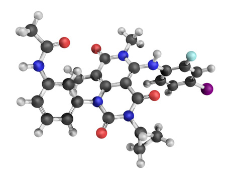 3d nitrogen: Chemical structure of trametinib, a melanoma cancer drug