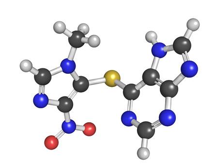 carcinogen: La azatioprina f�rmaco inmunosupresor, la estructura qu�mica. Se utiliza para prevenir el rechazo de trasplantes y en el tratamiento de enfermedades autoinmunes.