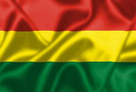 bandera de bolivia: Bolivia bandera ondeando al viento. Textura de fondo.