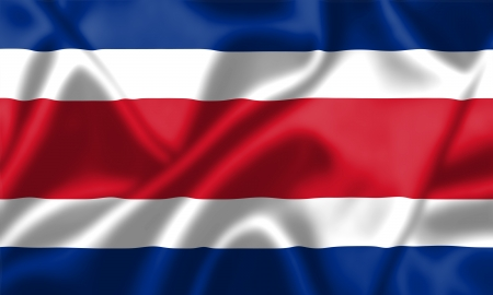 costa rica flag: Costa Rica flag blowing in the wind. Background texture.