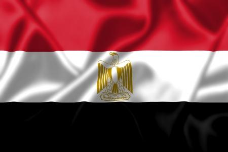 flag of egypt: Egipto bandera ondeando al viento. Textura de fondo. Foto de archivo