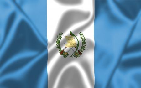 bandera de guatemala: Guatemala bandera ondeando al viento. Textura de fondo.