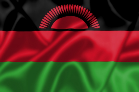 malawi flag: Malawi flag blowing in the wind. Background texture.