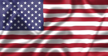 verenigde staten vlag: Verenigde Staten vlag waait in de wind. Achtergrond textuur.