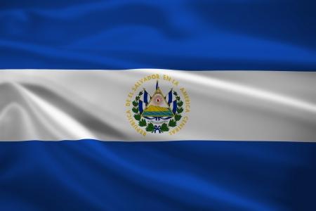 bandera de el salvador: El Salvador bandera ondeando al viento. Textura de fondo. Foto de archivo