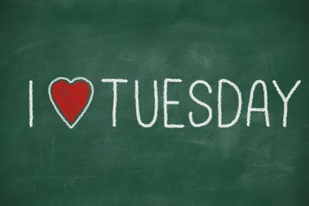 I love Tuesday Stock Photo