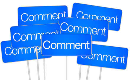 Comment signs for social media blue isolated banner button illustration illustration