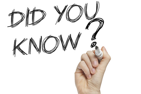 did you know: Hand writing did you know on a white board - education concept