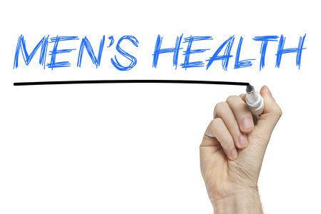 men s: Hand writing men s health