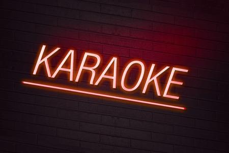 karaoke: Karaoke neon sign on wall