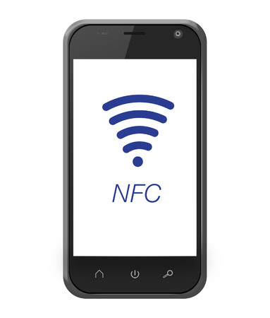 NFC near field communication on smartphone for mobile payment photo