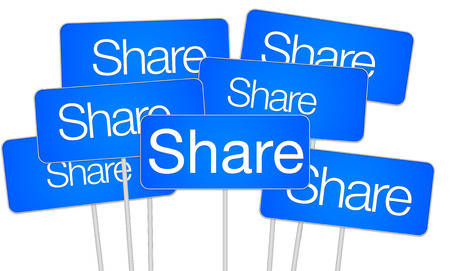 Share concept on social media photo